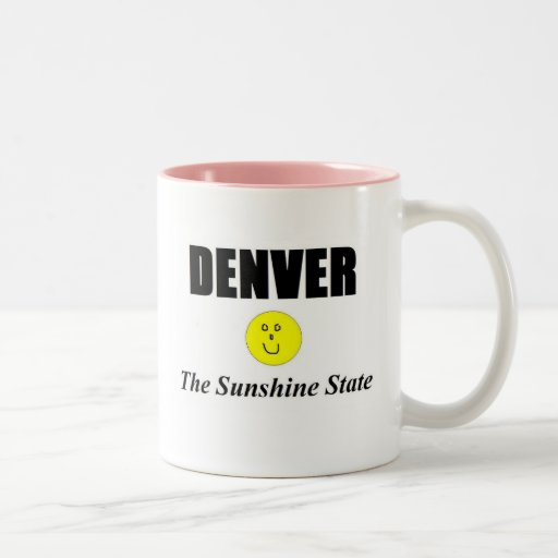 Denver…. El estado del sol Taza De Café De Dos Colores