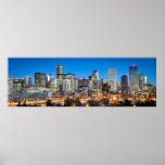Denver en el crepúsculo impresiones