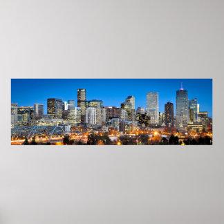 Denver en el crepúsculo póster