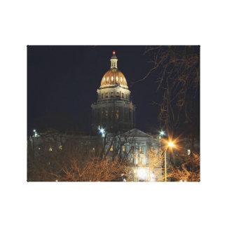 Denver en la noche 1 lona estirada galerías