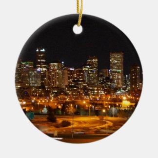 Denver en la noche ornamentos de reyes