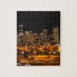 Denver en la noche puzzle con fotos