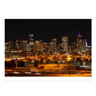 Denver en la noche tarjetas postales