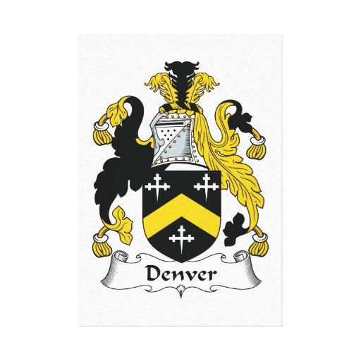 Denver Family Crest Canvas Print