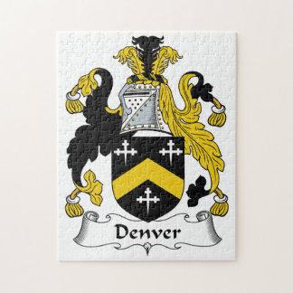 Denver Family Crest Jigsaw Puzzles