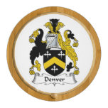 Denver Family Crest Round Cheese Board