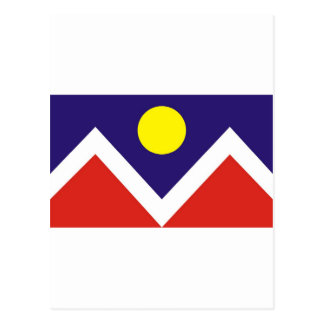 Denver flag postcard
