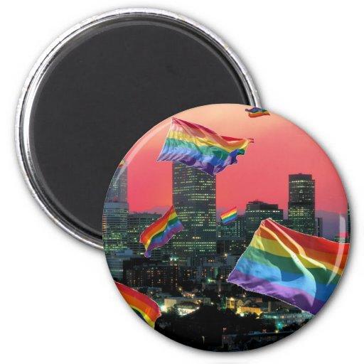 Denver Flying Pride 2 Inch Round Magnet