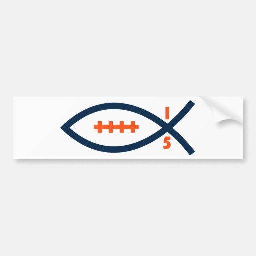 Denver Football Car Bumper Sticker