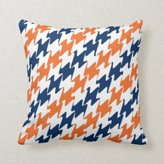 Denver Football Orange Blue & White Team Colors Pillows