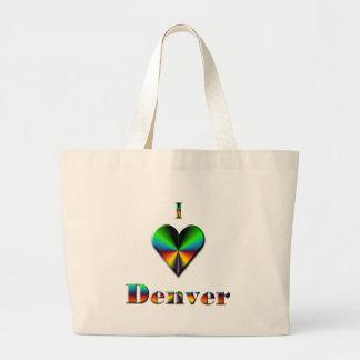 Denver -- Green Blue & Orange Tote Bag
