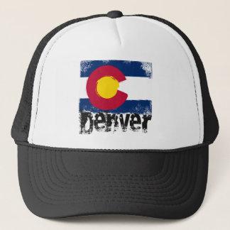 Denver Grunge Flag Trucker Hat