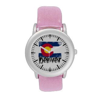 Denver Grunge Flag Wrist Watch