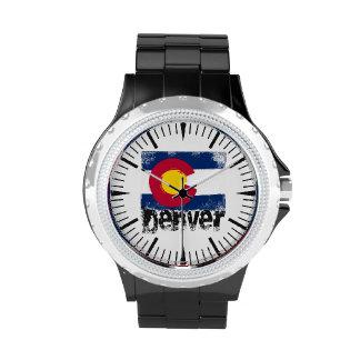Denver Grunge Flag Wrist Watches