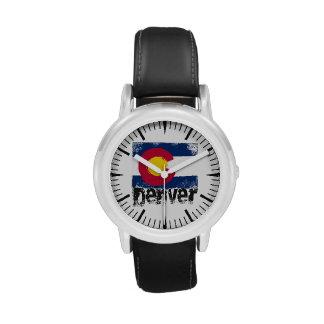 Denver Grunge Flag Wristwatches