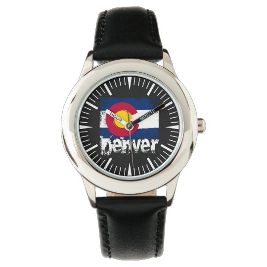 Denver Grunge Flag Wristwatches
