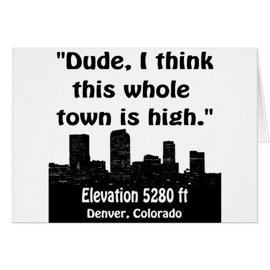Denver High Town Card