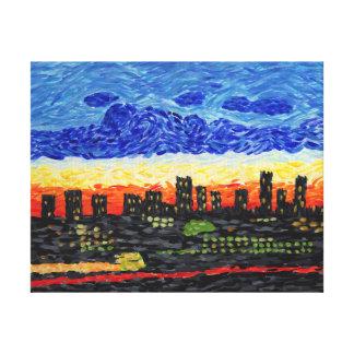 Denver, horizonte del Co Impresión En Lona Estirada