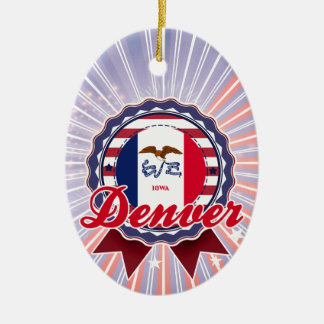 Denver, IA Adorno Ovalado De Cerámica