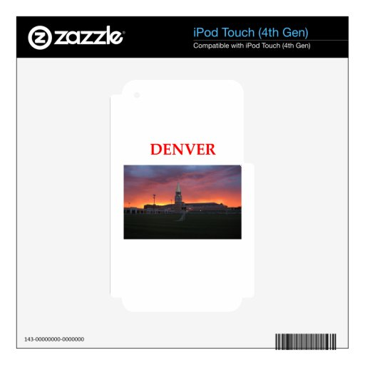 denver iPod touch 4G decal