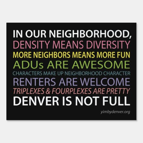 Denver Is Not Full Yard Sign - Black