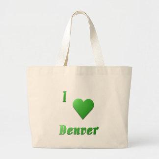 Denver -- Kelly Green Canvas Bags