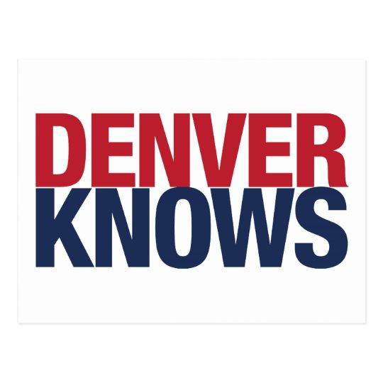 Denver Knows Postcard