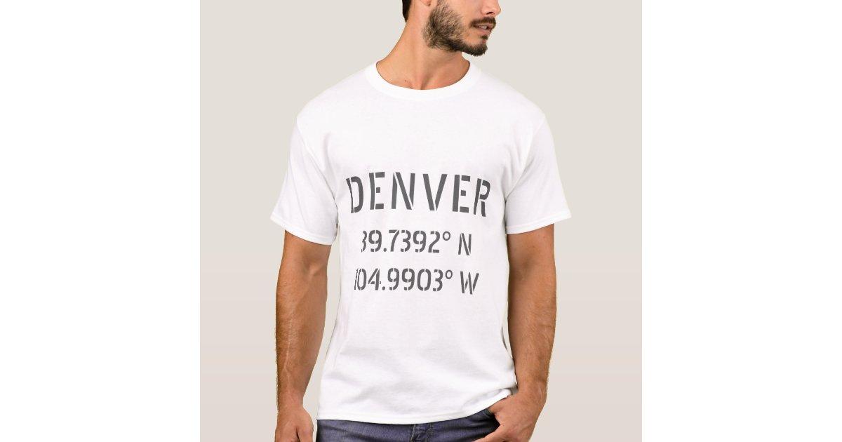 denver latitude and longitude t shirt zazzle com zazzle