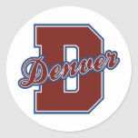 Denver Letter Round Stickers