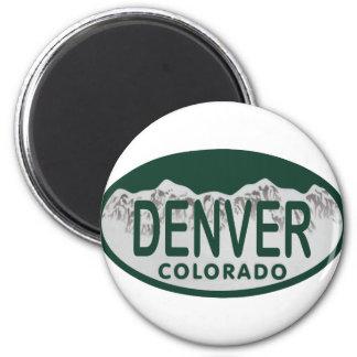 Denver License oval Magnet