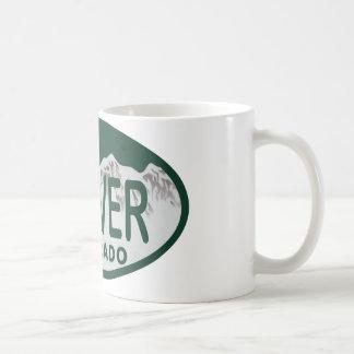 Denver License oval Coffee Mugs