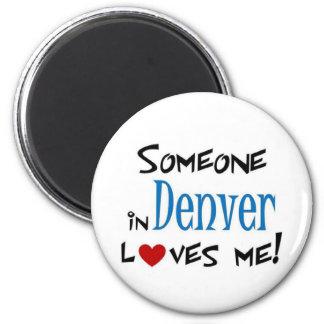 Denver love 2 inch round magnet