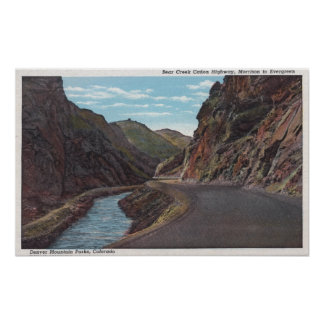 Denver Mountain Park, CO - Bear Creek Canyon Poster