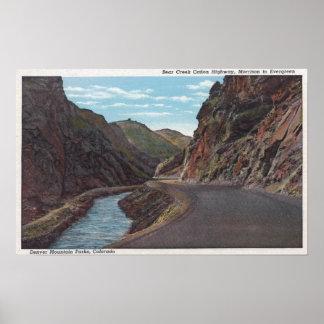 Denver Mountain Park, CO - Bear Creek Canyon Poster