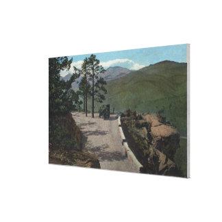 Denver Mountain Park, CO - Wildcat Point Lariat Stretched Canvas Print