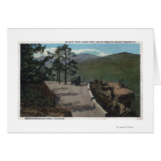 Denver Mountain Park, CO - Wildcat Point Lariat Greeting Cards