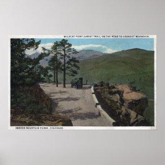 Denver Mountain Park, CO - Wildcat Point Lariat Poster