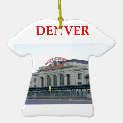 denver Double-Sided T-Shirt ceramic christmas ornament