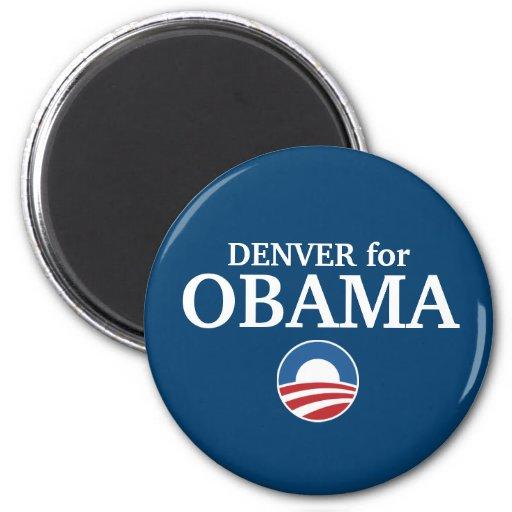 DENVER para el personalizado de Obama su ciudad pe Imanes Para Frigoríficos