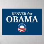 DENVER para el personalizado de Obama su ciudad pe Poster