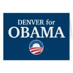 DENVER para el personalizado de Obama su ciudad pe Tarjetas