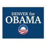 DENVER para el personalizado de Obama su ciudad pe Tarjetas Postales