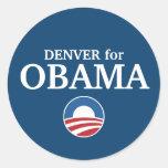 DENVER para el personalizado de Obama su ciudad Pegatinas Redondas