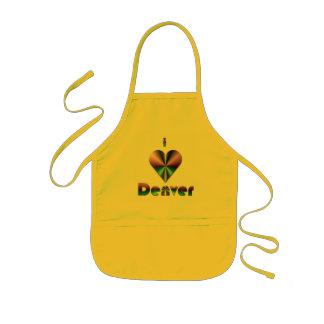 Denver -- Púrpura y turquesa Delantal Infantil