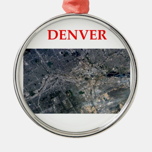 denver round metal christmas ornament