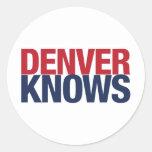 Denver sabe etiqueta redonda