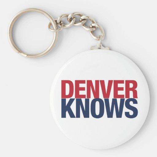 Denver sabe llaveros personalizados
