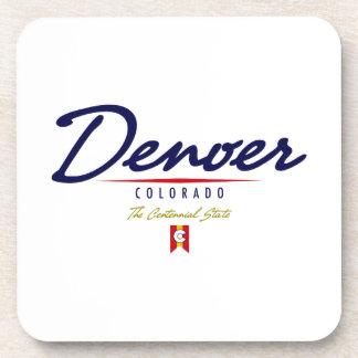 Denver Script Beverage Coaster