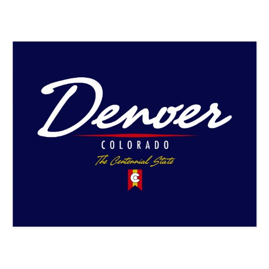 Denver Script Postcard