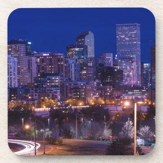 Denver Skyline At Night - Colorado Coaster